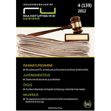 RaamatupidamisUudised nr 4 (139) 2012